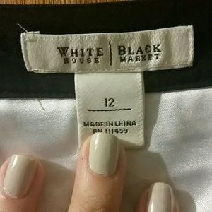 White House Black Market Dresses - Black and White Sleeveless Sack Dress