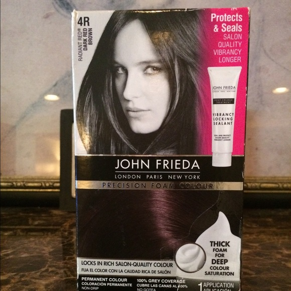 John Frieda Accessories New Foam Color Dark Red Brown 4r Poshmark