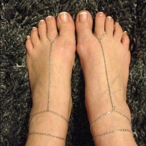 Silver Toe Anklet