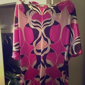 Silk Dolman Sleeved dress