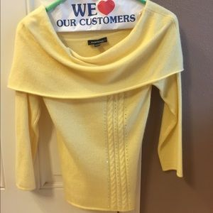Bebe pale yellow cashmere sweater