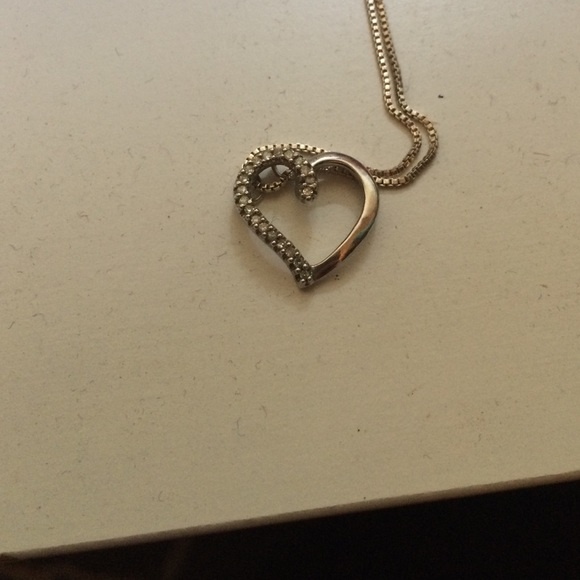 Zales silver necklace with heart from britt 39 s closet on for Where is zales jewelry