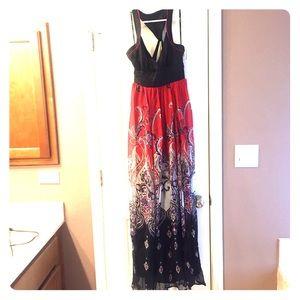 Bebe 100% SILK. Long dress- great condition!