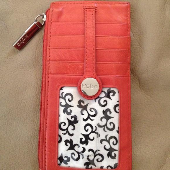 quality design eaca4 37556 Hobo credit card holder salmon color