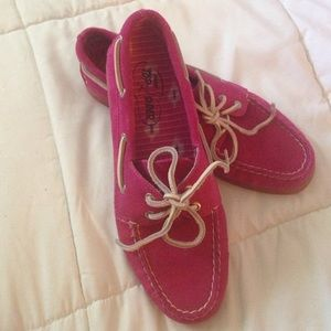 Pink Sperry Top-Siders 8.5