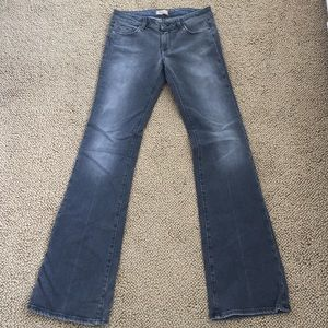 "Paige ""Laurel Canyon"" grey stretch denim  size 30"