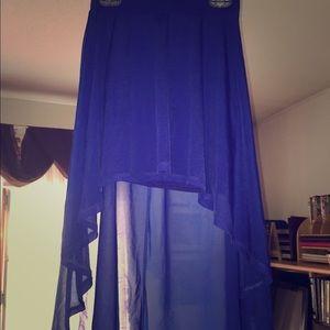 blue h m long skirt on poshmark