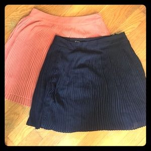 Forever 21 pleated skirts
