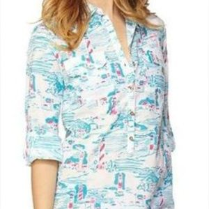 Lilly Pulitzer Tops - ⚡SALE⚡Lilly Pulitzer Watch Out cotton Tunic