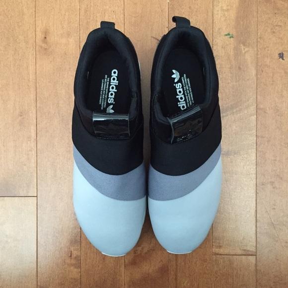 05cfa4c7a Mens Shoes adidas Originals ZX Flux Slip On Solar Blue   Solar