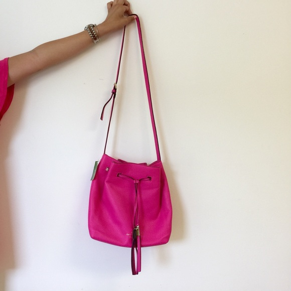 39% off kate spade Handbags - NWT Neon Pink Kate Spade Bucket Bag ...