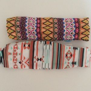 Aztec print headbands.