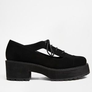 asos platform shoes/heels w/ cutouts