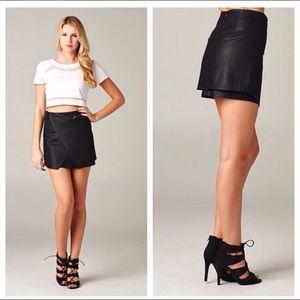 Dresses & Skirts - Black Leather Skirt
