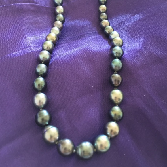 Jared Jewelry Mikimoto Black Tahitian Pearl Necklace Poshmark