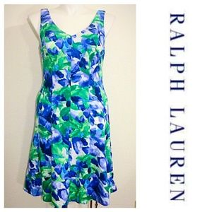 Lauren Ralph Lauren Floral Fit & Flare Dress