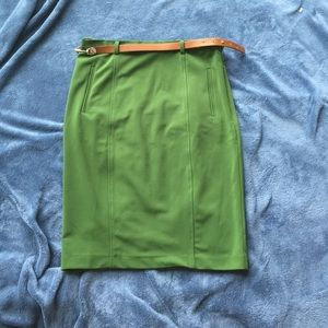 Modcloth green pencil skirts m