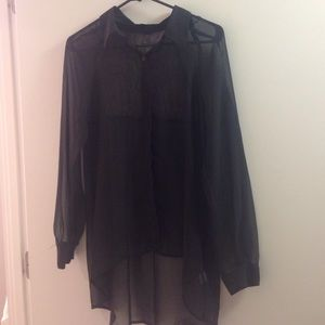 LC Lauren Conrad black blouse- size Medium