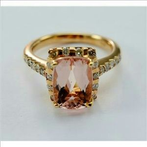 Jewelry - 14K Rose Gold morganite & dimnd ring w appraisal
