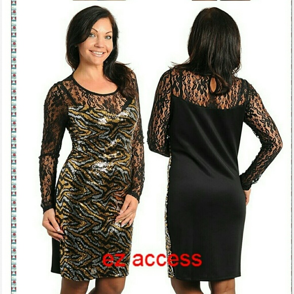 Boutique Dresses Plus Size Dress Little Black Dress Mini Gold Sexy