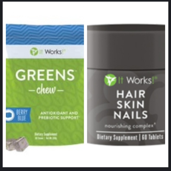 It Works Other | Greens Chewshair Skin Nails | Poshmark