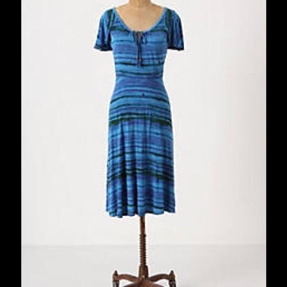 Anthropologie Dresses Anthropologie By Plenty Vela Luka Blue Dress Sz M Poshmark