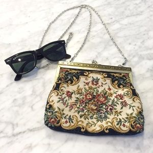 Vintage Floral Crossbody Purse