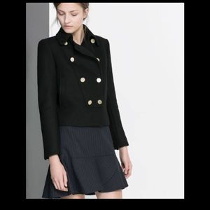 Zara Wool Military style jacket Size M or L