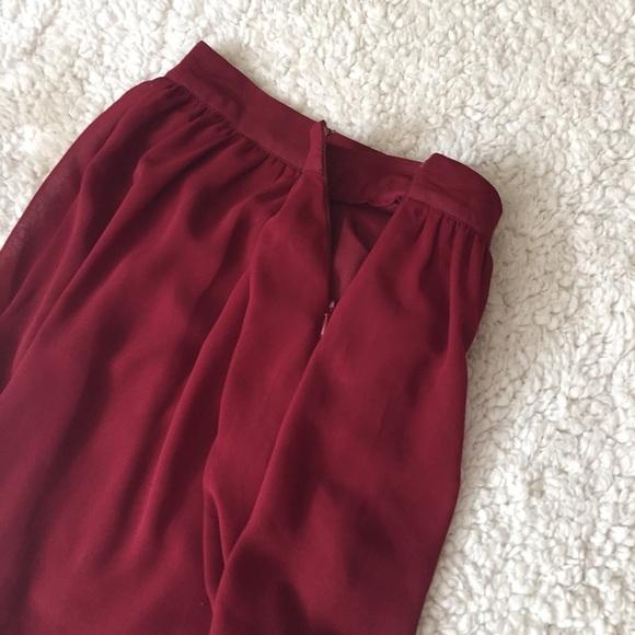 forever 21 burgundy hi low skirt from s closet on