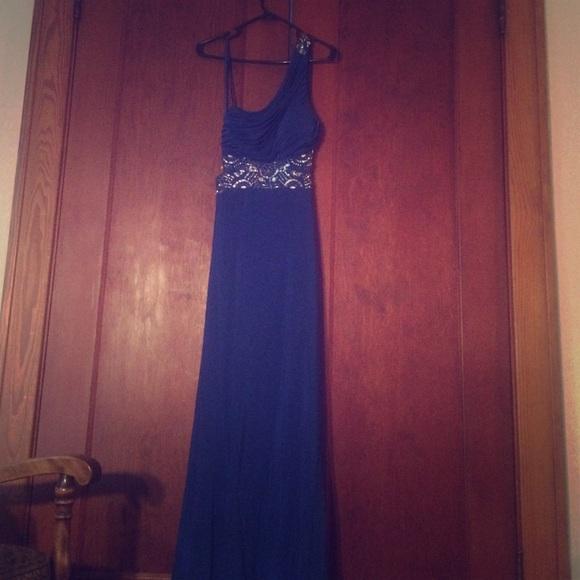 40 Off Blondie Nites Dresses Amp Skirts Blue One Shoulder