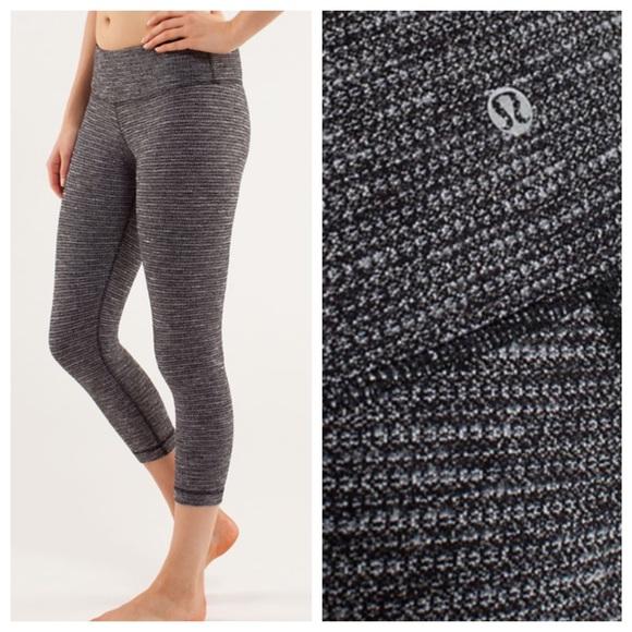 b73da15249716 lululemon athletica Pants   Lululemon Crops In Coco Pique Black ...