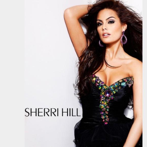 Sherri Hill Dresses Aline Short Black Prom Dress Poshmark
