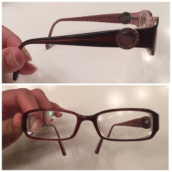 Coach Eyeglass Frames Burgundy : 63% off Coach Accessories - Coach Glasses Frames Rosa ...