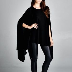 """Memento"" Loose Poncho Tunic Top"
