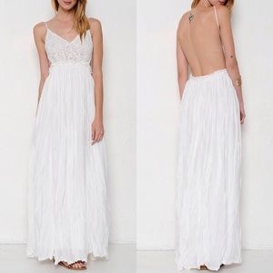 """Moonset"" Backless Lace Maxi Dress"