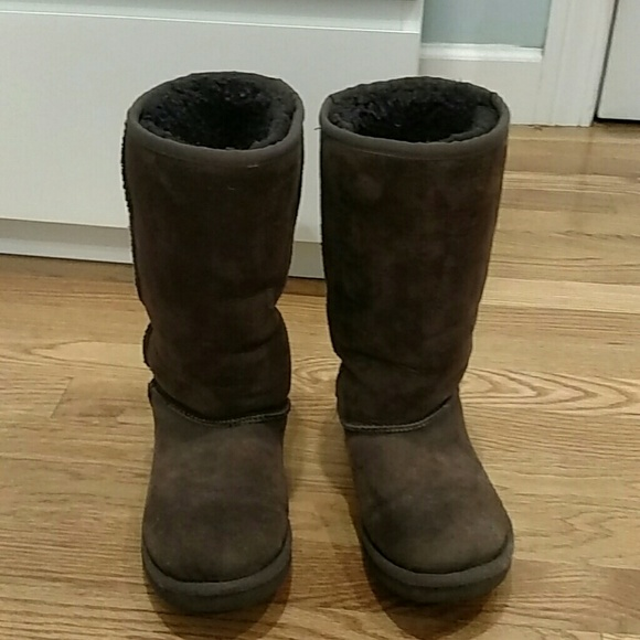 Dark brown tall kids UGG boots