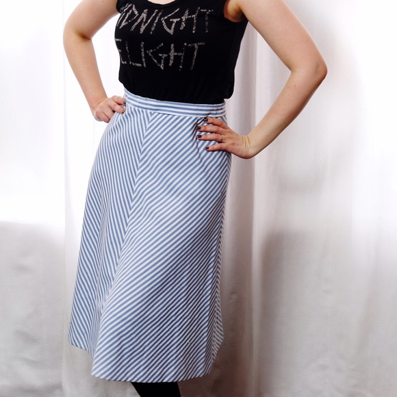 Vintage Skirts - Vintage Striped Skirt