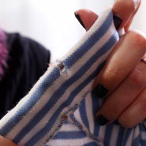 Vintage Skirts - Vintage Striped Skirt