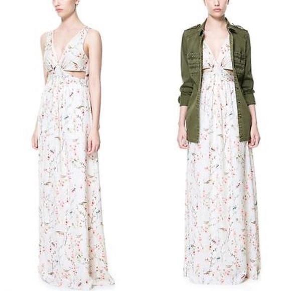 Zara trafaluc maxi dress