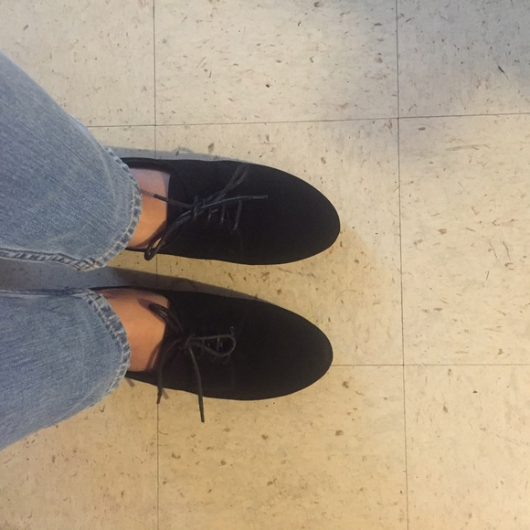 Ollio Shoes - Ollio Black Oxfords
