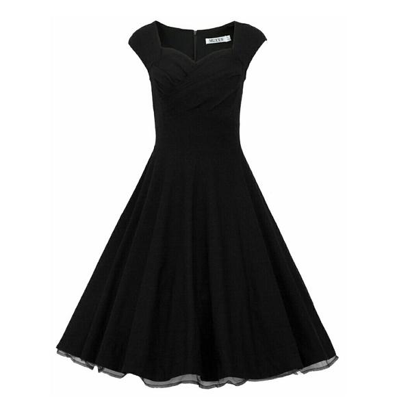 f0af24756c0 MUXXN Women 1950s Vintage Retro Capshoulder dress.  M 55d6b2b151e9ea218300b32e
