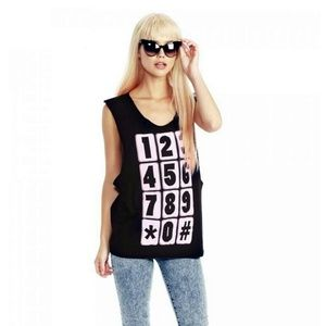 Wildfox Phone Numbers Cut-Off Tank