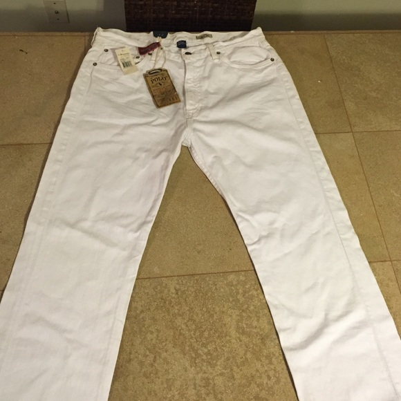 64e465a1 Polo Ralph Lauren Classic 867 Jean (White) (36/34) NWT