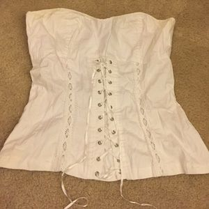 Angie Tops - White corset top gothic