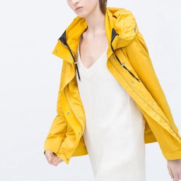 32% off Zara Jackets & Blazers - Zara Yellow Short Parka Jacket ...