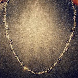 Jewelry - Blk/silver blingy beads on a twisted wire-like