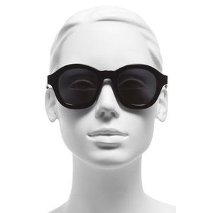 3.1 Phillip Lim Accessories - •3.1 PHILLIP LIM 49mm Round Black Sunglasses•