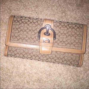 Large Authentic Coach Wallet