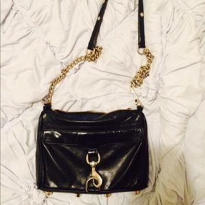 Rebecca minkoff black mini mac cross body purse