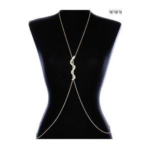 Snake pavé body chain